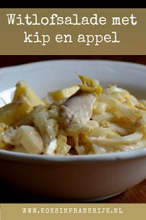Witlofsalade met kip en appel