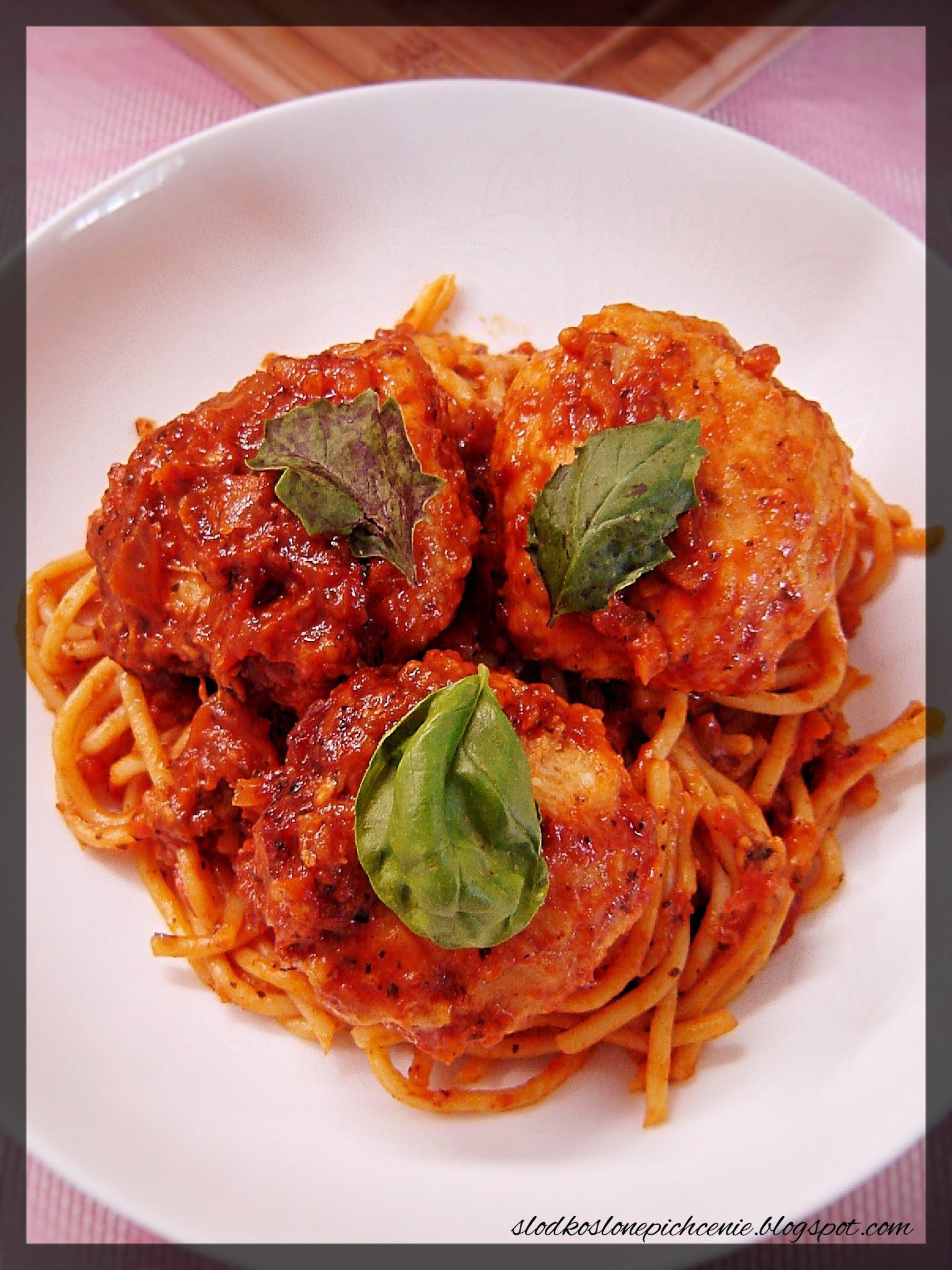 Spaghetti zapiekane z pulpecikami