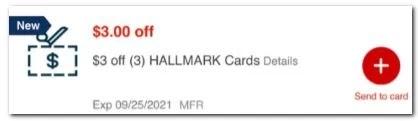$3.00/3 Hallmark Greeting Card CVS crt Coupon (Select CVS Couponers)