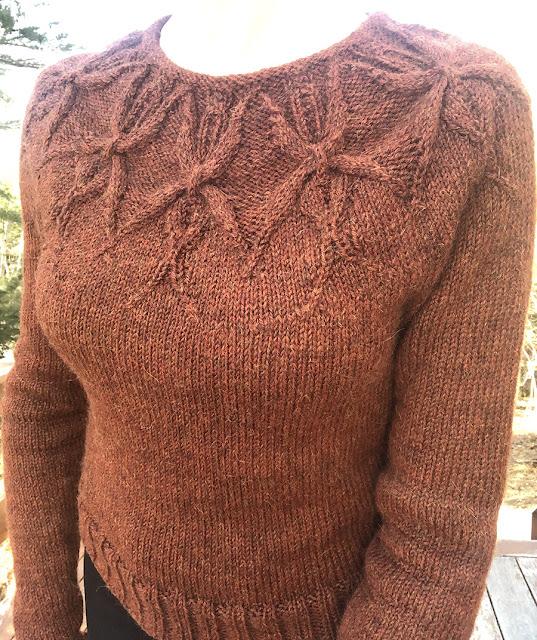 Isabel yoke sweater, knit by Dayana Knits