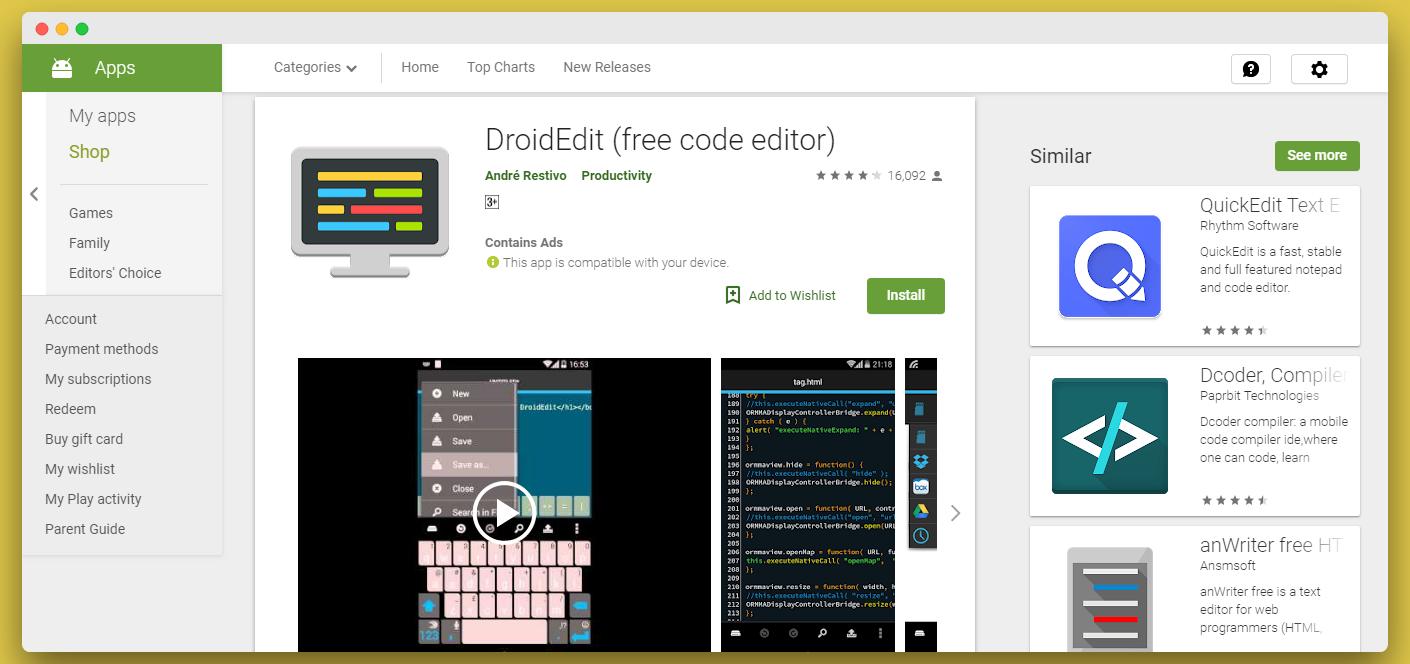 droidedit app