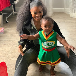Gabrielle Union and his Daughter Kaavia James
