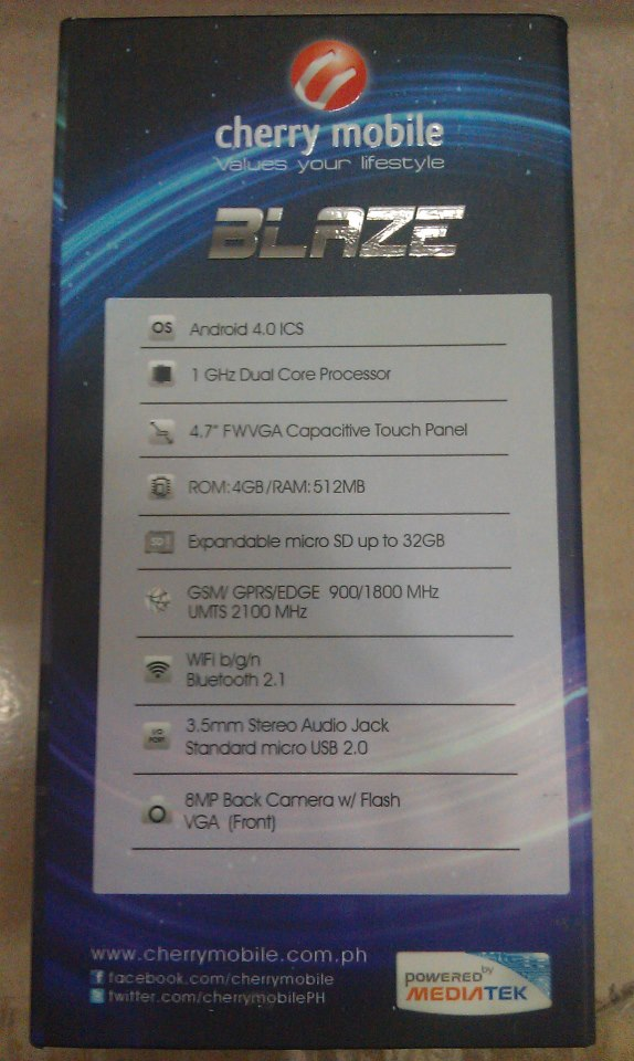 Cherry Mobile Blaze Retail Box