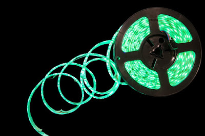 City Lighting Products suggests you use green rope lights that are versatile
