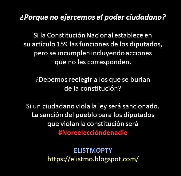 ¿Debemos reelegir a los que se burlan de la constitución?