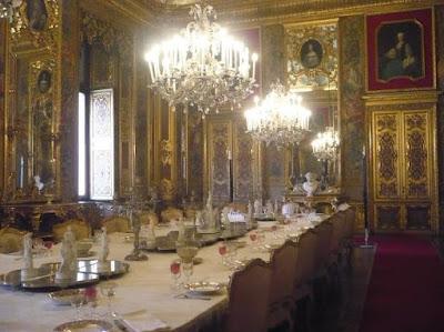 Palazzo Reale di Torino: sala da pranzo