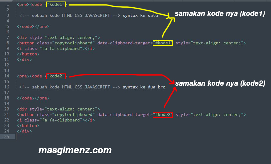 Cara Membuat Click to Copy Pada Syntax Highlighter