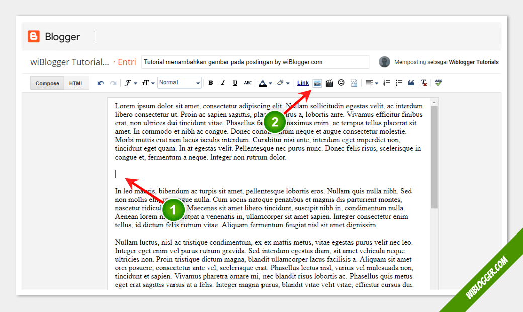 Panduan Lengkap Cara Insert Memasukkan Gambar Pada Postingan Blogger