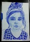 رسم مع خطوات للرسامة مروة من العراق