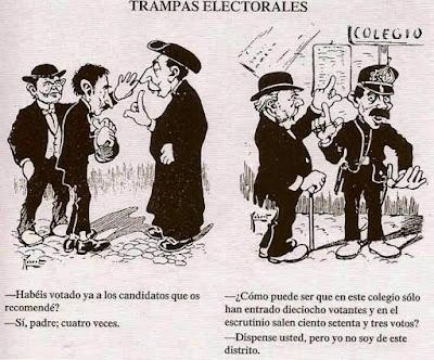 Resultado de imagen de trampas electorales viñeta
