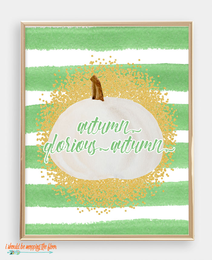 Autumn Glorious Autumn Printable