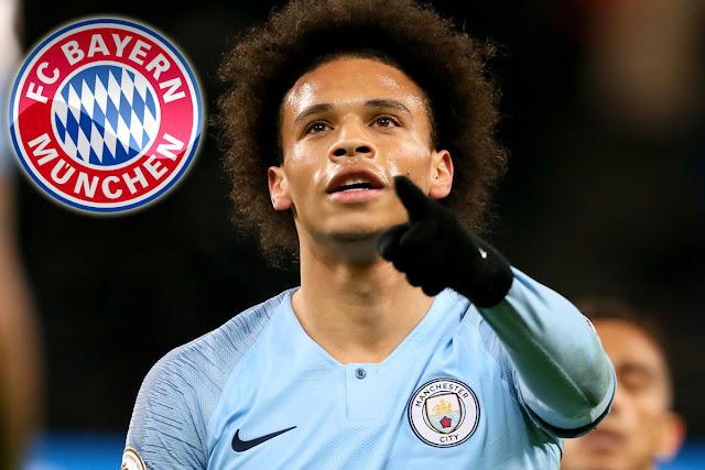 Bayern gặp khó ở trong việc mua Sane.