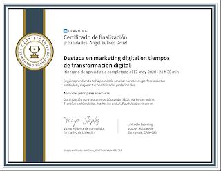 Destaca en marketing digital en tiempos de transformación digital, certificado, servicio preferencial a colombianos