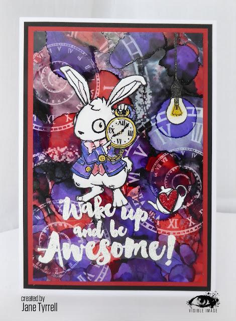 ranger lift off ink - white rabbit card