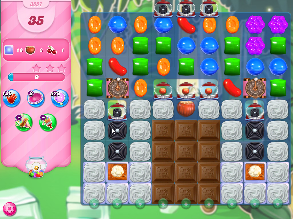 Candy Crush Saga level 3557