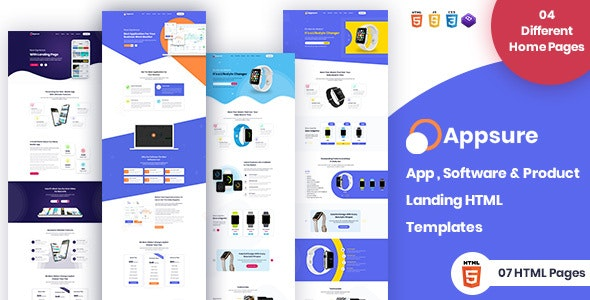 Software & App Landing Website Template