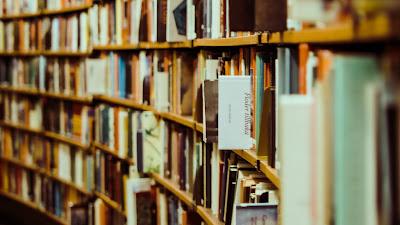Plano de Fundo HD Livros na Biblioteca