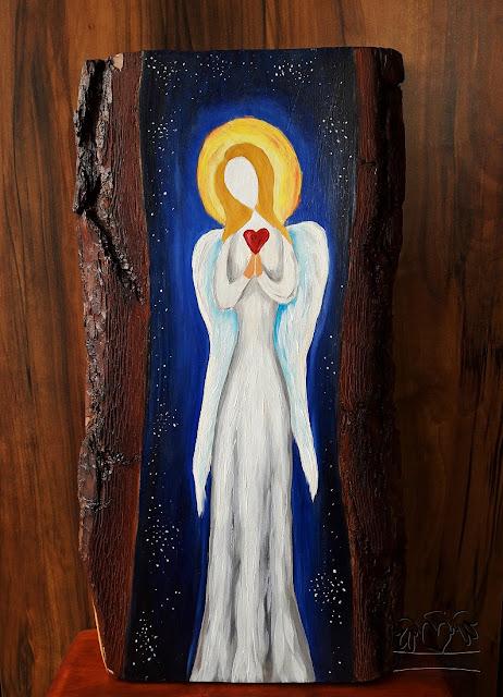 Anioł z serduszkiem – abstrakcja