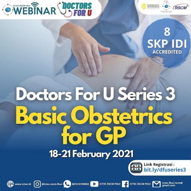"WEBINAR 8 SKP IDI ""Basic Obstetric For GP"""