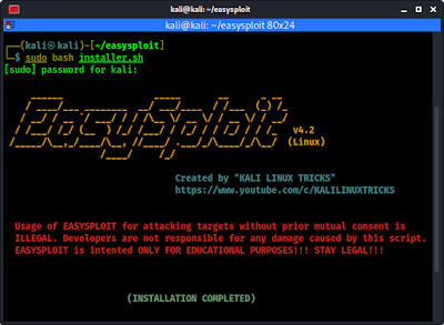 easysploit install completed