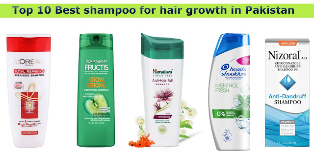 Top 10 Best shampoo for hair growth in Pakistan