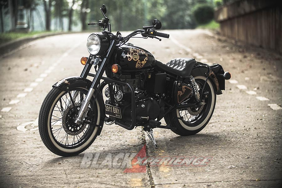 Modifikasi Royal Enfield gaya Jadul