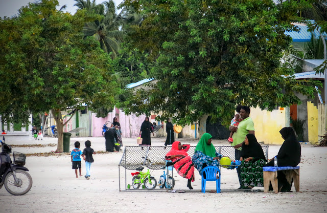 Ön Ukulhas på Maldiverna