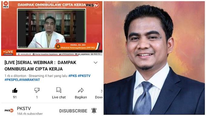 """""""Sebagai Buruh, Saya Puas dengan Penjelasan Bung Indra PKS di Webinar Dampak Omnibus Law"""""""