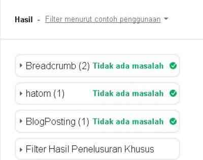 Mengatasi Error Structured data blog