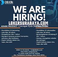 We Are Hiring at DB Klik Surabaya Oktober 2020