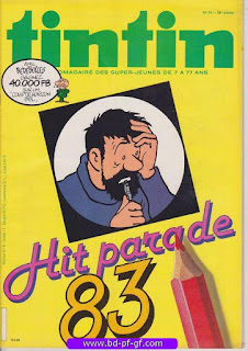Tintin-numéro 19, année 38,  1983, Hit parade 83