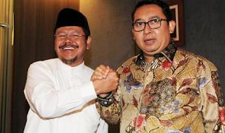Fadli Zon bersama Jubir HTI, Ismail Yusanto