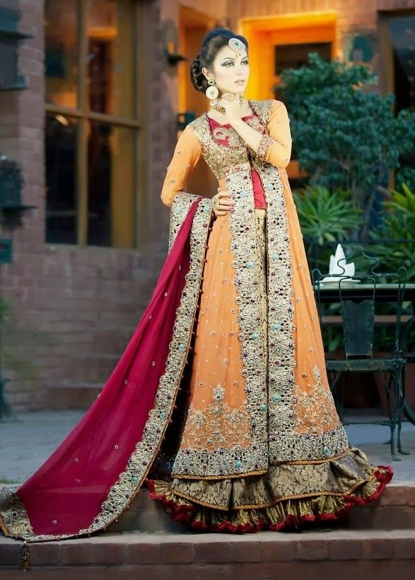 Lovely Fancy Long Open Double Shirt Gown Style 2016 | Pak Fashion ...