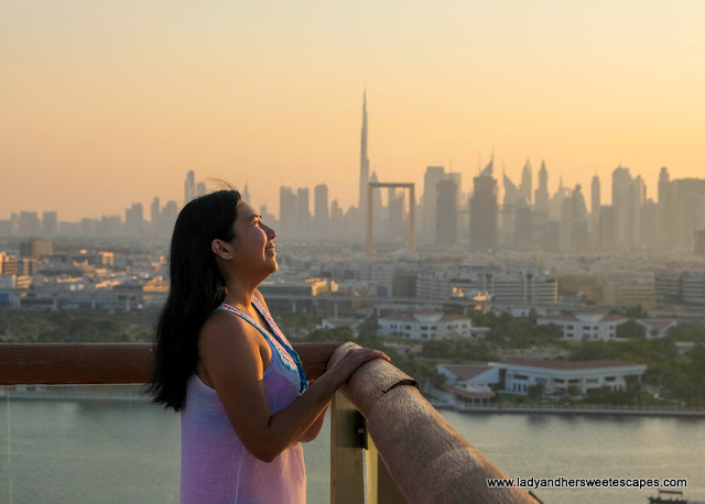 Sunset from Hilton Hotel Dubai