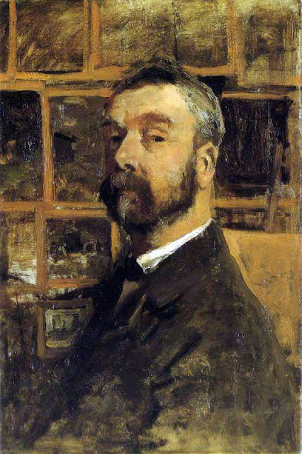 Anton Mauve, Self Portrait, Portraits of Painters, Fine arts, Portraits of painters blog, Paintings of Anton Mauve, Painter Anton