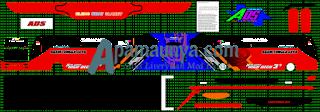 Livery Agam Tugga Jaya Merah Biru Ads JB3+ SHD