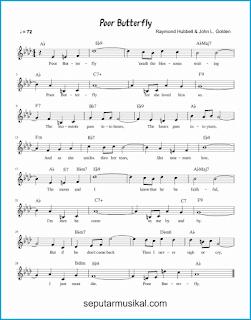 chord poor butterfly lagu jazz standar