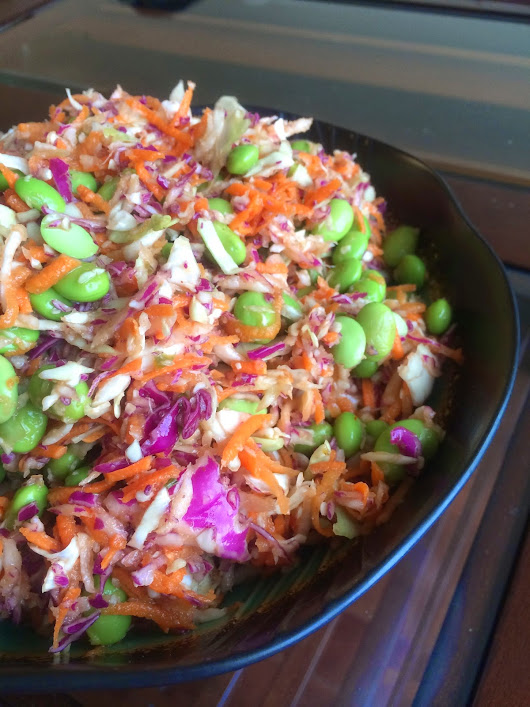 5-Ingredient Asian Slaw with Peanut Dressing