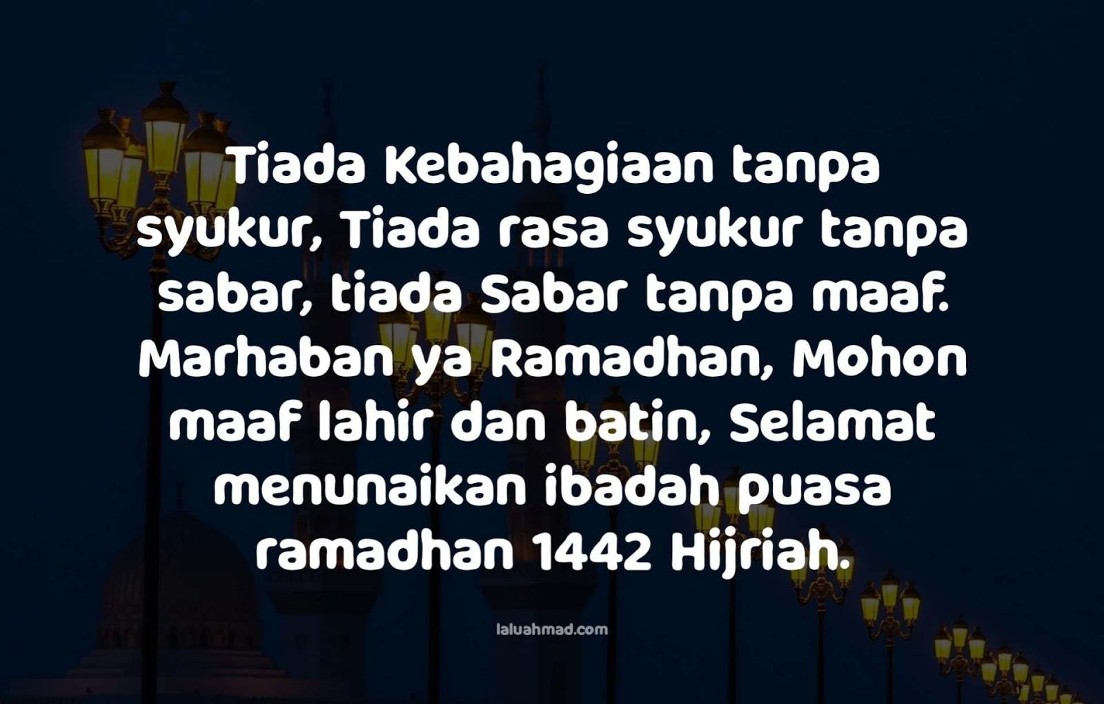 Kata Ucapan Menyambut Bulan Puasa Ramadhan 1442 H