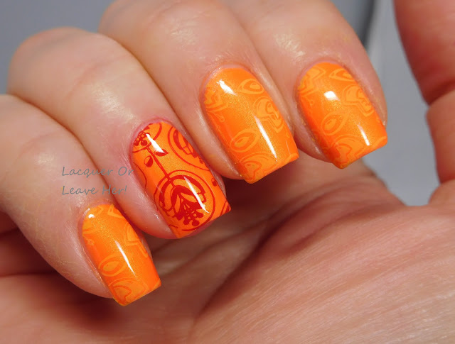 Color Club Foxy Mama + MoYou London Flower Power 02