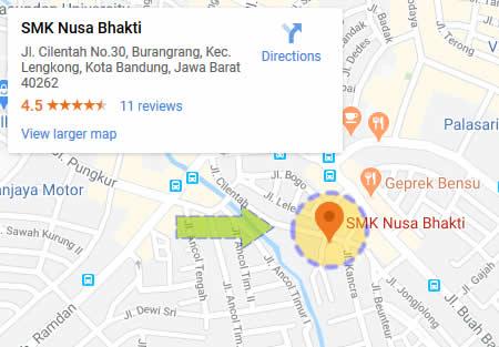 Peta Lokasi SMK Nusa Bhakti Bandung