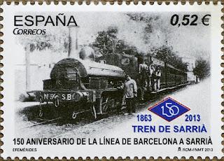 150 ANIVERSARIO DE LA CREACIÓN DE LA LINEA DE BARCELONA A SARRIÁ