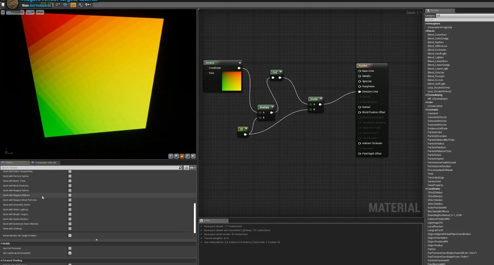Motion Graphics in Unreal Engine tutorial: Render Target
