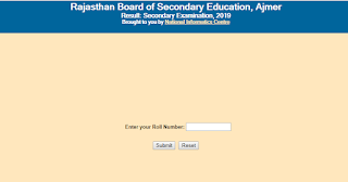Rajasthan Board 10th result 2019