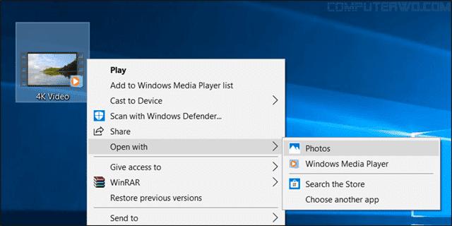 استخدام تطبيق الصور من ويندوز لإستخراج الصور من الفيديو