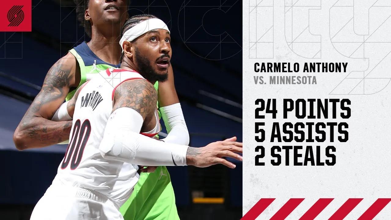 Carmelo Anthony 26pts 6ast vs MIN   March 13, 2021   2020-21 NBA Season