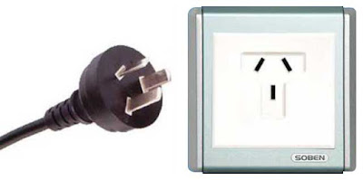 Instalaciones eléctricas residenciales - Enchufe tipo I australiano