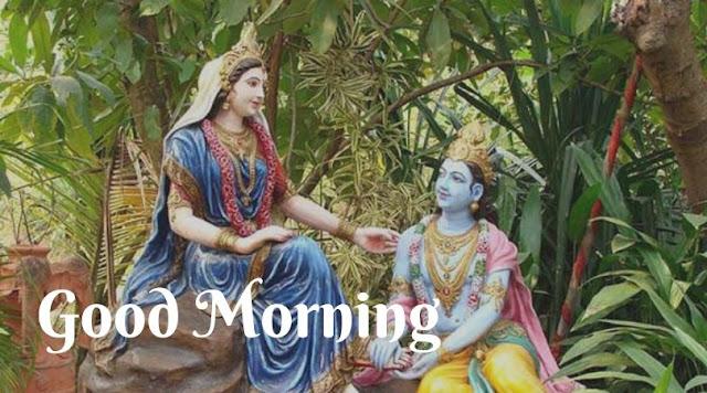 radha krishna good morning images shayari