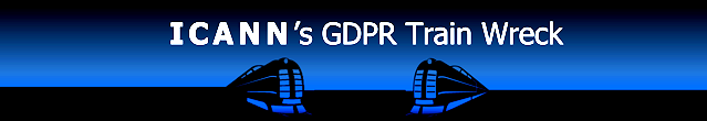 ICANN's GDPR Train Wreck © 2018 DomainMondo.com