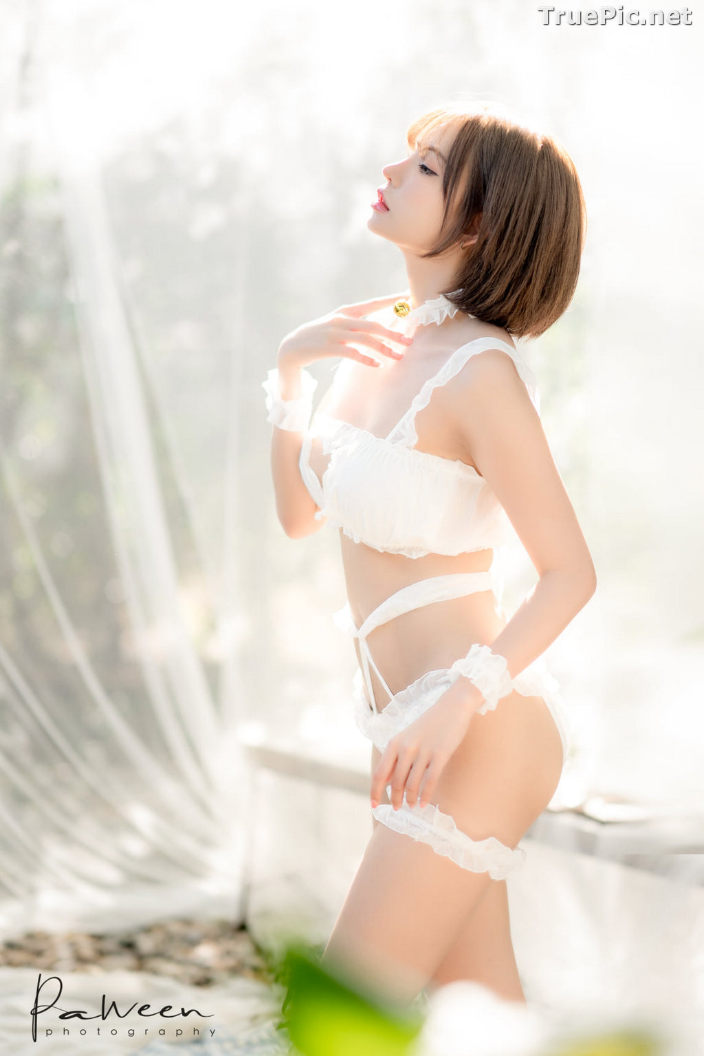 Image Thailand Model - Sutasinee Nokia Sirirak - White Sexy Bikini - TruePic.net - Picture-2